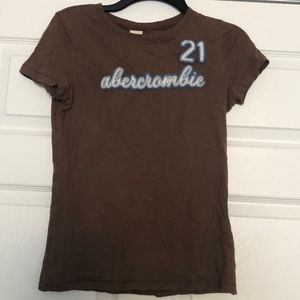 Brown Abercrombie Girls Shirt